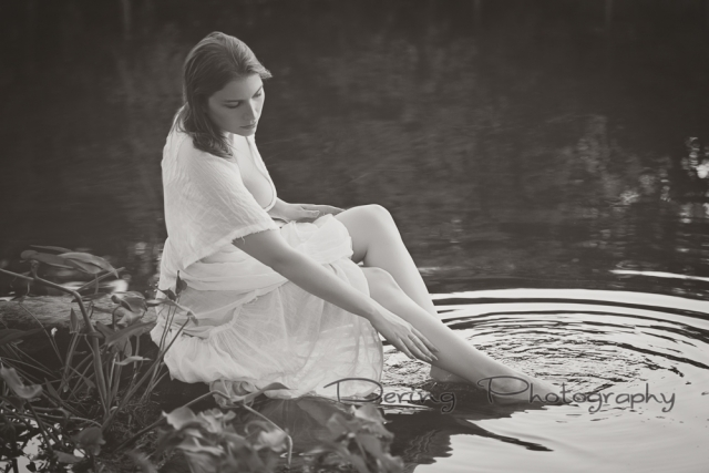 Girl in the lake